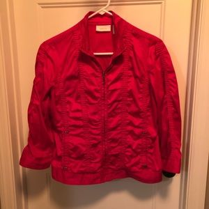 HOT pink Chico's jacket - Size 0 (4)